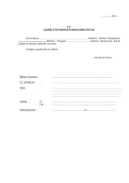 kayıt sildirme başvuru dilekçesi