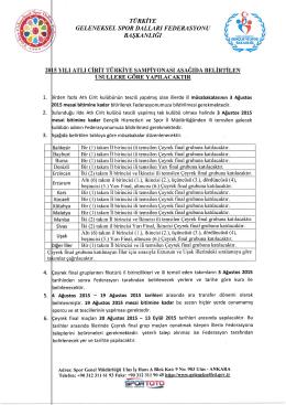 2015 yılı atlı cirit reglamanı - Geleneksel Spor Dalları Federasyonu