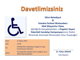 PowerPoint Sunusu - İstanbul Serbest Muhasebeci Mali Müşavirler