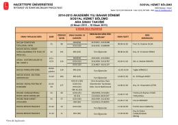 hacettepe üniversitesi 2014-2015 akademik yılı bahar dönemi