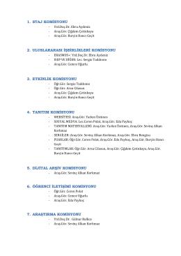 komisyon listesi