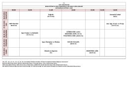 06.04.2015 PA ZA R TESİ Dağcılık Uzmanlık Futbol 07.04.2015 SA