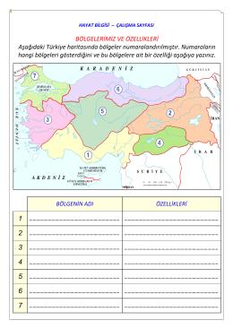 bölgemizin özellikleri