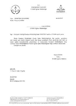 Yazı Eki için tıklayınız - Alaşehir İlçe Milli Eğitim Müdürlüğü