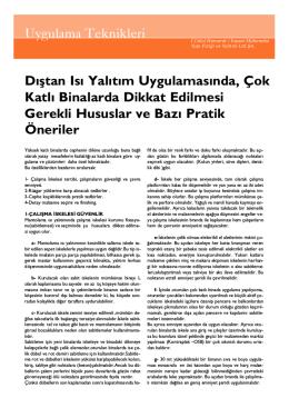makale - Yapı Fiziği ve Yalıtım Ltd. Şti.