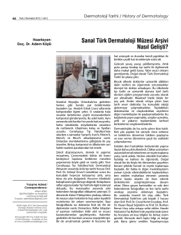 Sanal Türk Dermatoloji Müzesi Arşivi Nasıl Gelişti?
