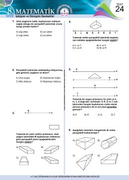 İzdüşüm ve Dönüşüm Geometrisi