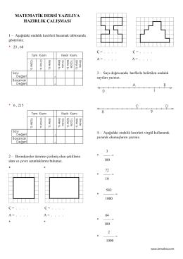 matematik dersi yazılıya hazırlık çalışması
