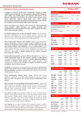 GÜNLÜK BÜLTEN - Akbank Yatırımcı