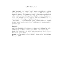 çapkın çiçekli - Yapı Kredi Kültür Sanat Yayıncılık
