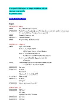 Türkiye Sosyal Çalışma ve Sosyal Hizmetler Forumu