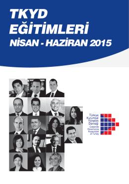 Haziran 2015 Broşürü - TKYD - Türkiye Kurumsal Yönetim Derneği
