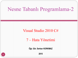 Nesne Tabanlı Programlama-2