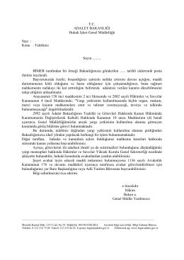 Yargı Yetkisi - Hukuk İşleri Genel Müdürlüğü