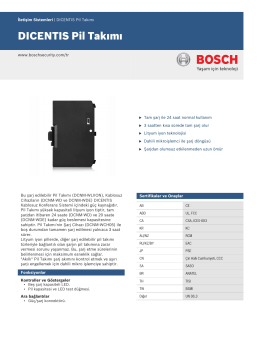 DICENTIS Pil Takımı - Bosch Security Systems
