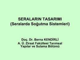 Nemlendirmeli soğutma - Ankara Üniversitesi Ziraat Fakültesi