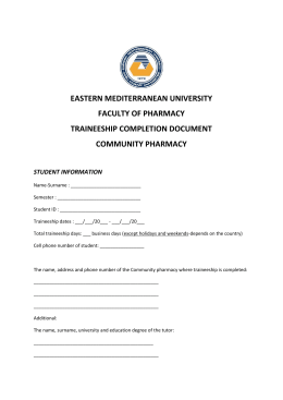 4-Community pharmacy report of pharmacist