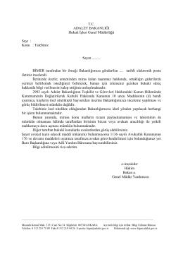 Özel Nitelikli Talep(Miras) - Hukuk İşleri Genel Müdürlüğü