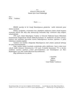 Özel Nitelikli Talepler - Hukuk İşleri Genel Müdürlüğü