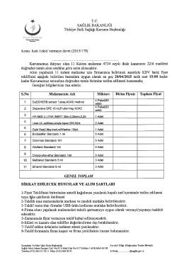 Katı Teklif vermeye davet (2015/178)