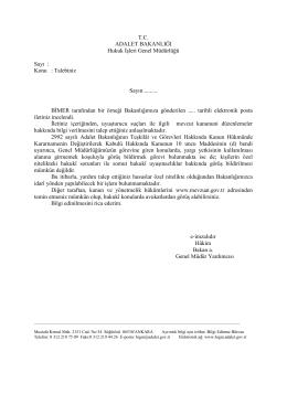 Mevzuat - Hukuk İşleri Genel Müdürlüğü