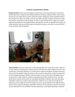 Predavanje - Filmski Centar Srbije