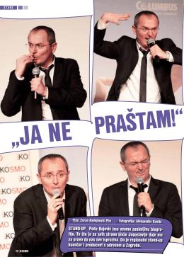 STAND-UP. Peđa Bajović ima veoma zanimljivu