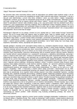 """O nacionalnoj državi -čitajući """"Nacionalni identitet"""" Antonija D. Smita"""