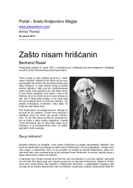 Bertrand Rasel - Zasto nisam hriscanin