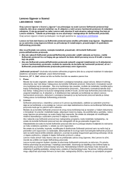 Lenovo Ugovor o licenci