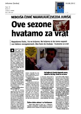 Prilog 3 - KK Partizan