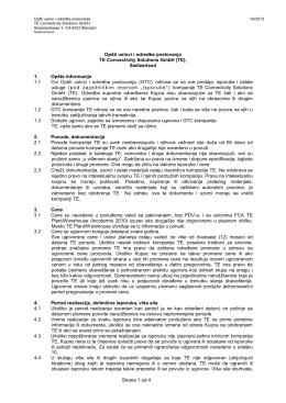 Strana 1 od 4 Opšti uslovi i odredbe poslovanja TE Connectivity