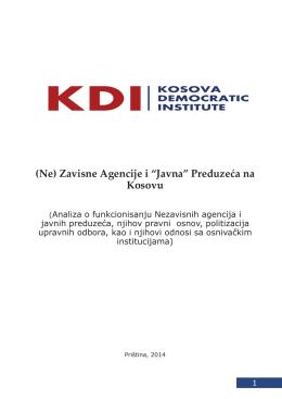 """(Ne) Zavisne Agencije i """"Javna"""" Preduzeća na Kosovu"""