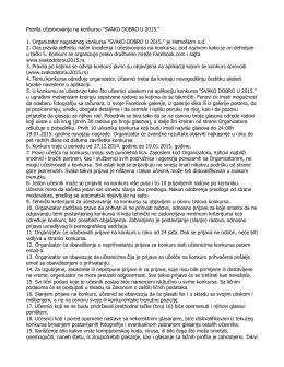 """Pravila učestvovanja na konkursu """"SVAKO DOBRO U 2015."""" 1"""