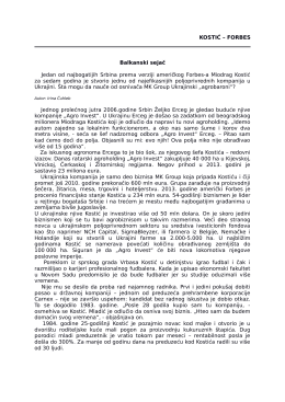 Forbes Ukraina - Miodrag Kostić
