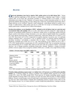 JugoistoĊna Evropa Redovni ekonomski izveštaj