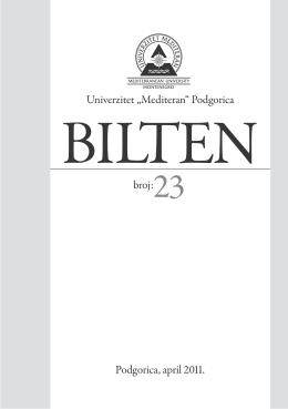 br.23 - Univerzitet Mediteran