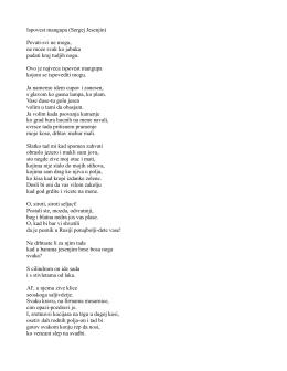Ispovest mangupa (Sergej Jesenjin) Pevati