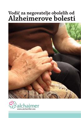 Vodič za negovatelje obolelih od Alzheimerove bolesti