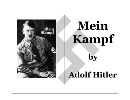 by Adolf Hitler