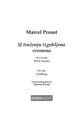 Marcel Proust U traženju izgubljena vremena