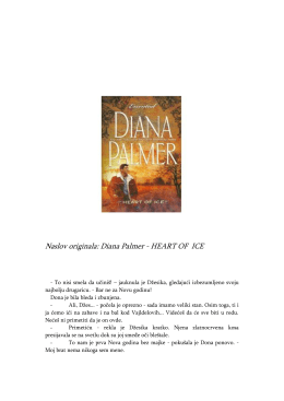 Naslov originala: Diana Palmer - HEART OF ICE