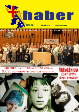 srebrenica holocaust 1995-2012 - Bosnia and Herzegovina UK