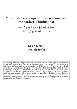 - Applicable Analysis and Discrete Mathematics