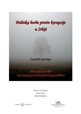 Politika borbe protiv korupcije u Srbiji