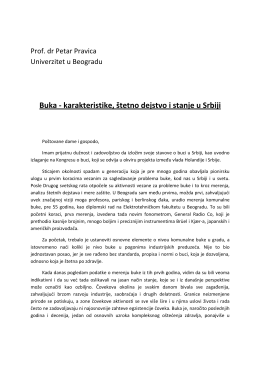 Buka - karakteristike, štetno dejstvo i stanje u Srbiji