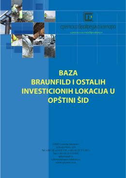 BAZA BRAUNFILD I OSTALIH INVESTICIONIH LOKACIJA U
