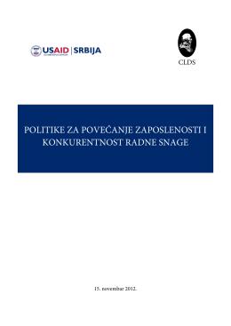 Politike za povećanje zaposlenosti i konkurentnosti radne