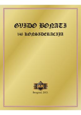 Gvido Bonati – 146 konsideracija Gvida Bonatija