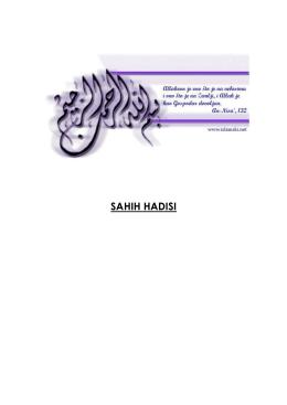 SAHIH HADISI
